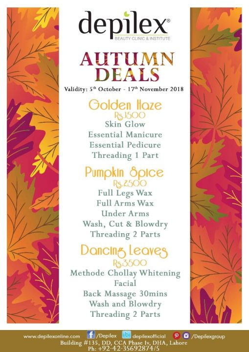 Depilex Autumn Deals DHA Salon