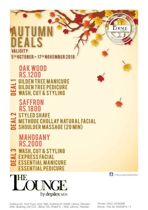 The Lounge Autumn Deals DHA Salon
