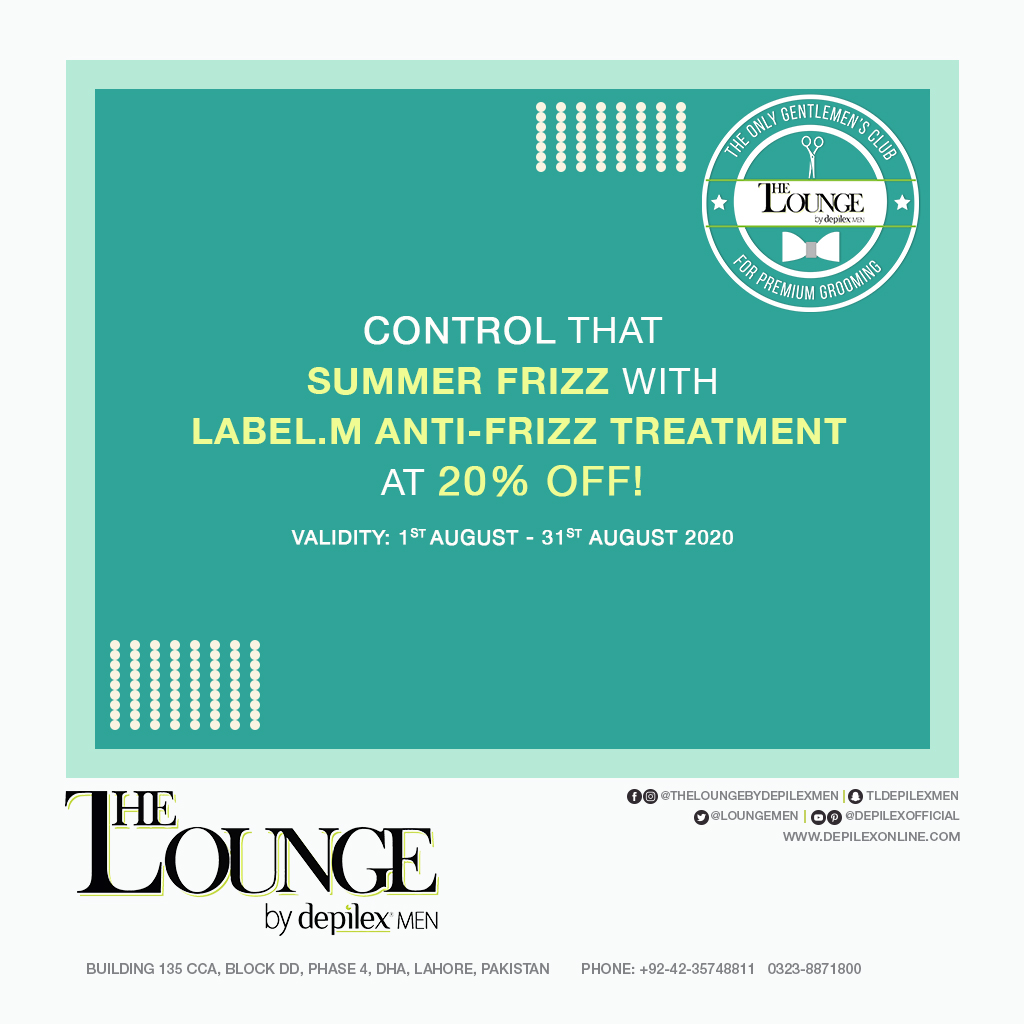 Label.M Hair Treatment 20% OFF at The Lounge, Lahore